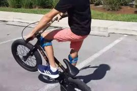 wheelie on a BMX